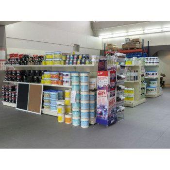 Gondole centrale magasin de peinture