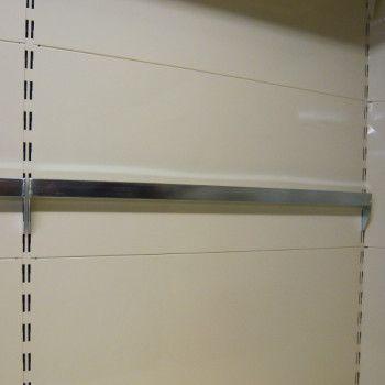 Barre de charge pour gondole de couleur Aluminium