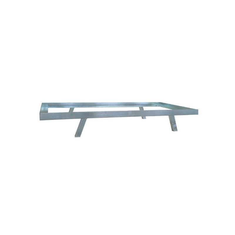 Base 4 pieds pour panier filaire 130 L métallique peint de couleur Alu (980mm)