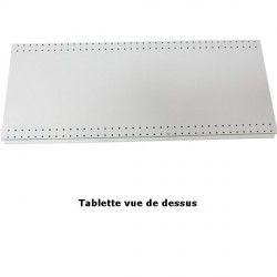 Tablette avec le porte étiquette de prix