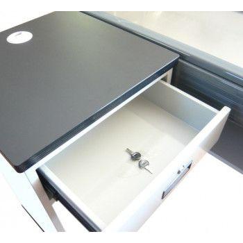 Tiroir meuble de caisse sans tapis roulant avec tablette PMR 2019