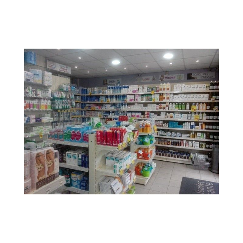 Agencement gondole pharmacie