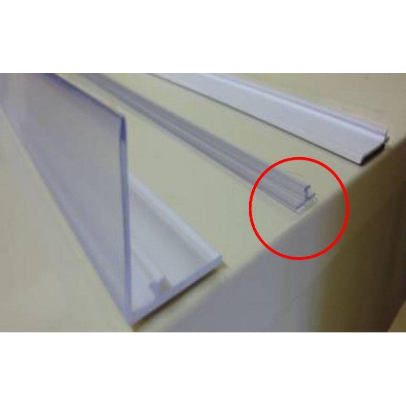 Rail de fixation de 9 mm (Transparent) adhésif pour séparateur