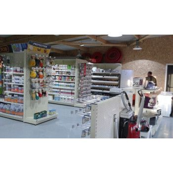 Agencement Gondole magasin de bricolage