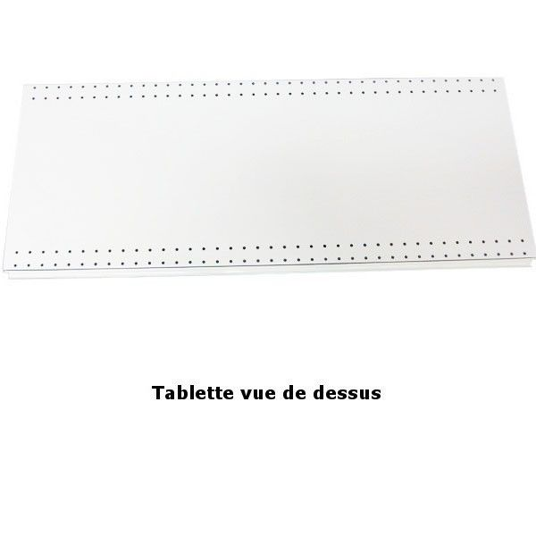 Tablette de base pour gondole murale + TG