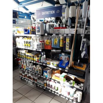 Gondole magasin materiel de nautisme
