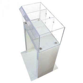 Bac plexiglass transparent sans les affiches de promo
