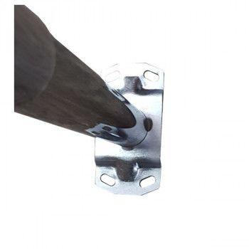 Platine de fixation avec les trous pour poteau barre de guidage